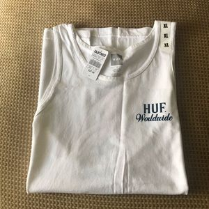 HUF Men's Ultra White Tank